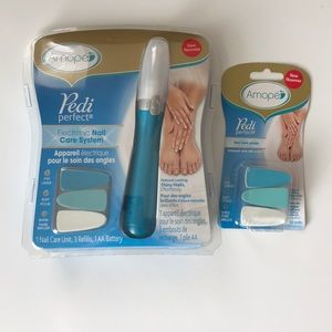 Amope Pedi Perfect w/refills File, Buff & Shine!